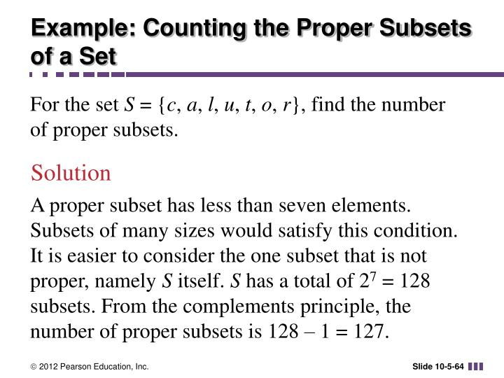 Example: Counting the Proper Subsets of a Set