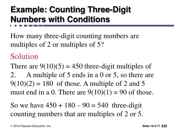 Example: Counting Three-Digit Numbers with Conditions