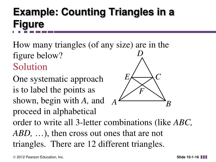 Example: Counting Triangles in a Figure