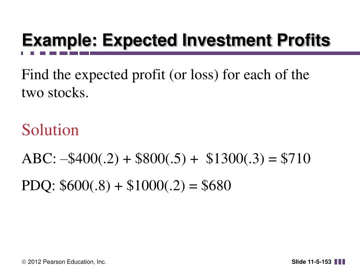 Example: Expected Investment Profits