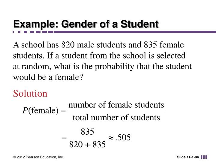 Example: Gender of a Student