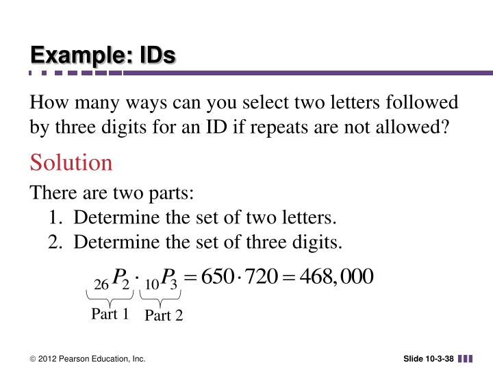 Example: IDs