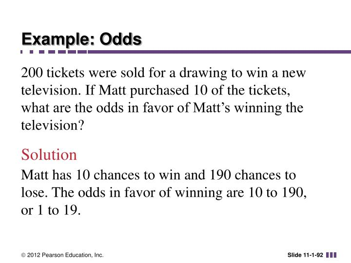 Example: Odds