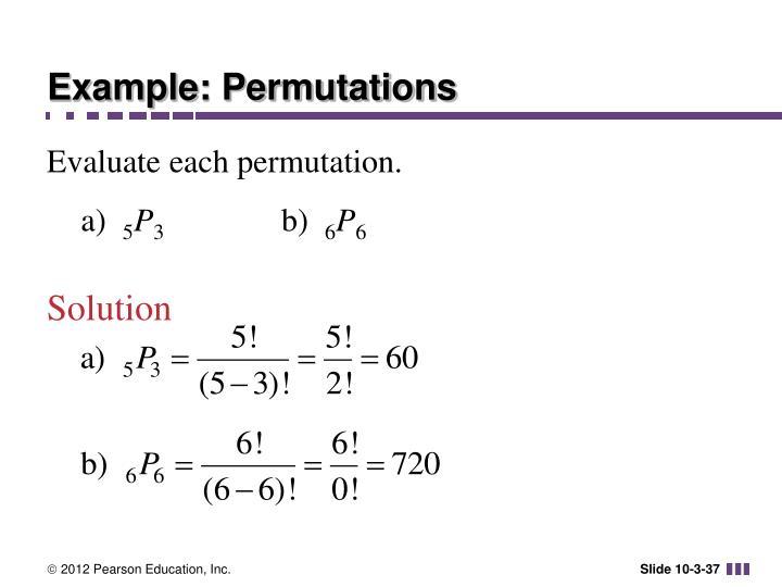 Example: Permutations