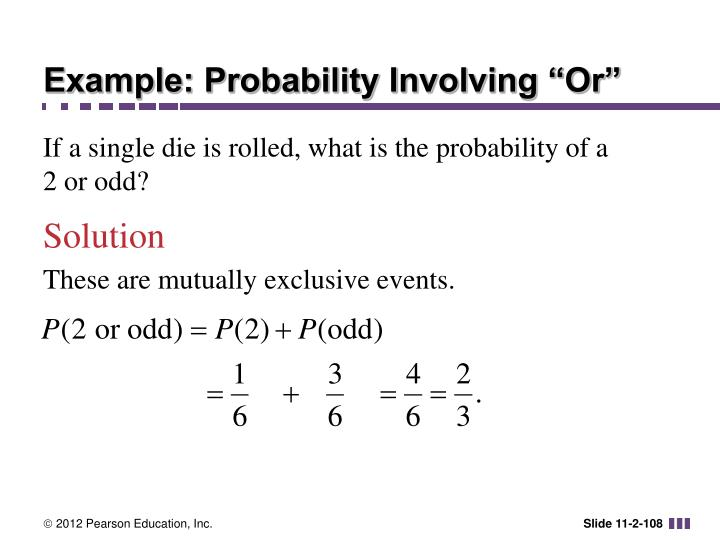 "Example: Probability Involving ""Or"""