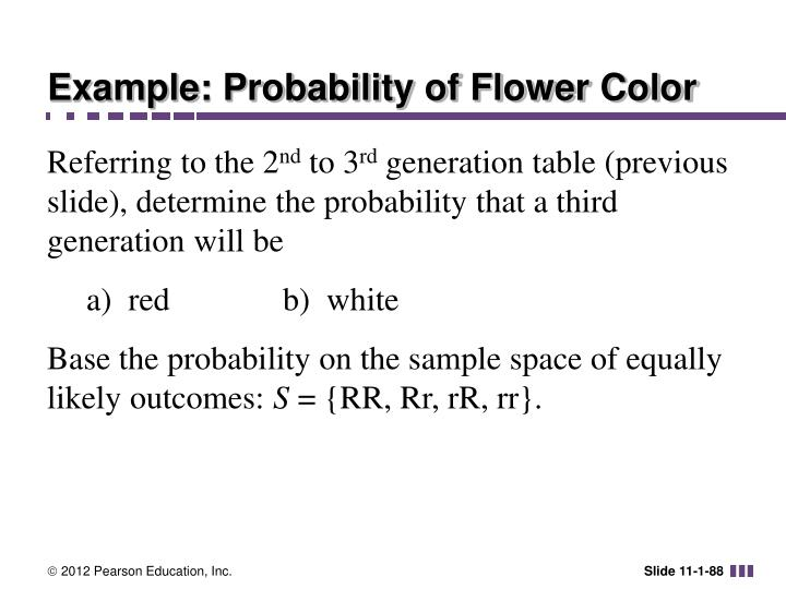 Example: Probability of Flower Color