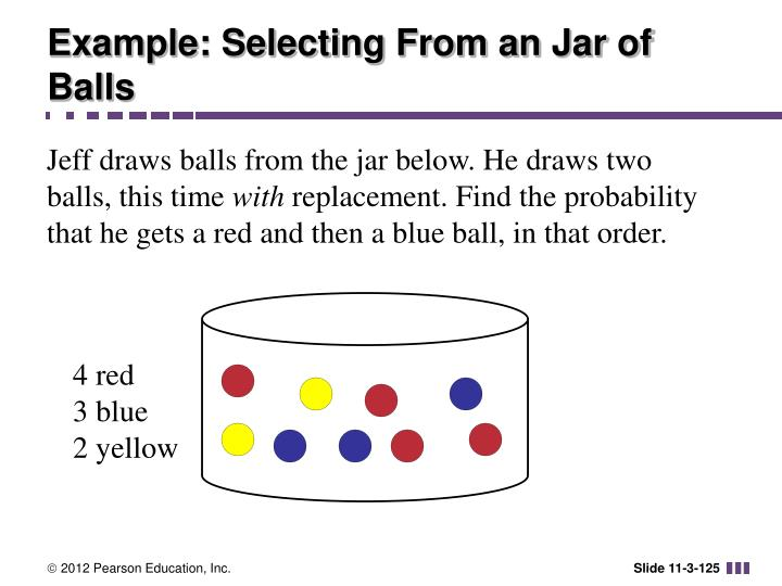 Example: Selecting From an Jar of Balls