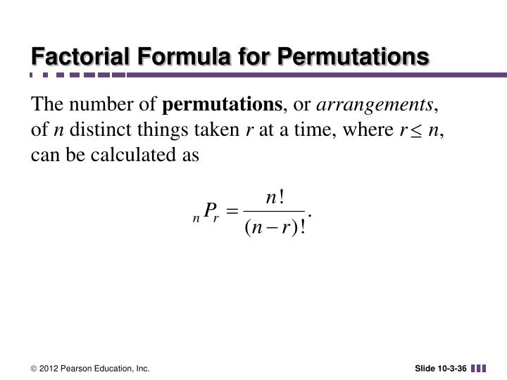 Factorial Formula for Permutations