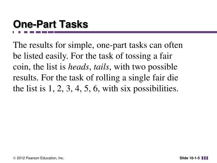 One-Part Tasks