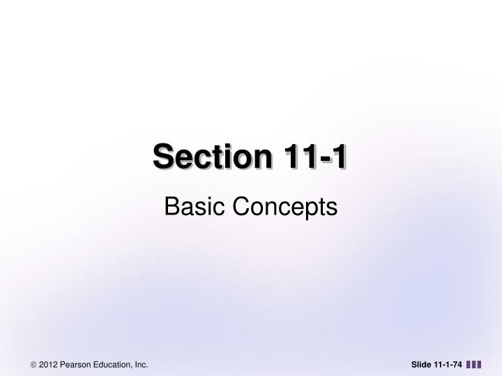 Section 11-1