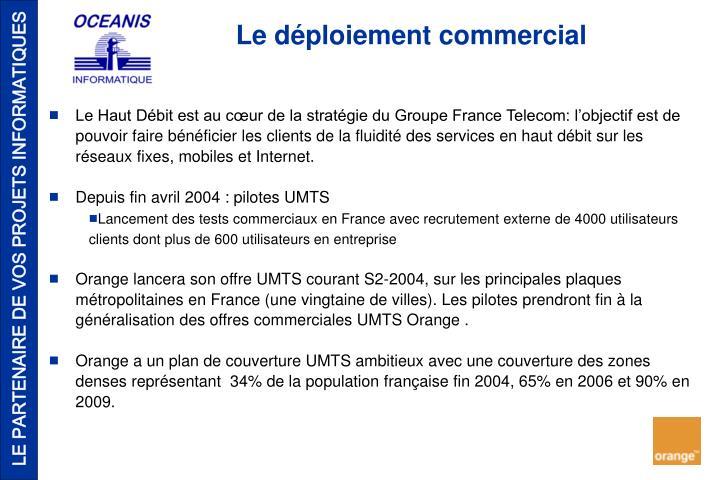 Le Haut Débit est au cœur de la stratégie du Groupe France Telecom: l'objectif est de pouvoir faire bénéficier les clients de la fluidité des services en haut débit sur les réseaux fixes, mobiles et Internet.