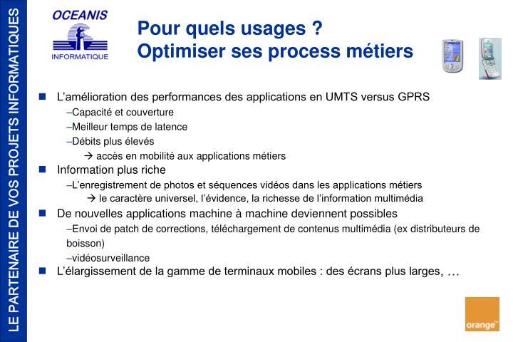 L'amélioration des performances des applications en UMTS versus GPRS