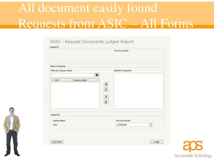 All document easily found