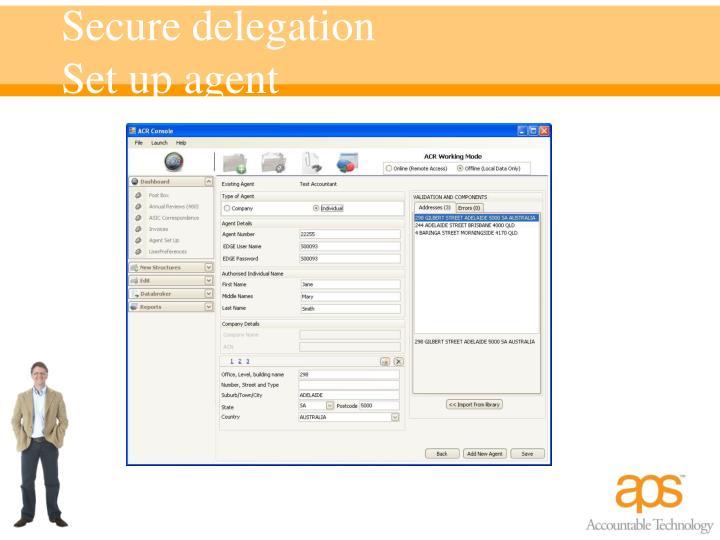 Secure delegation