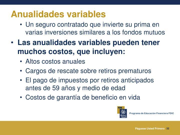 Anualidades variables