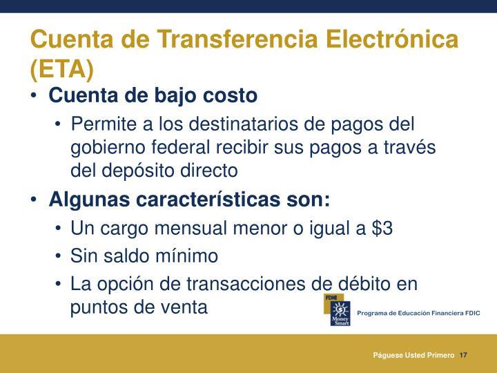 Cuenta de Transferencia Electrónica (ETA)