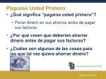 p guese usted primero