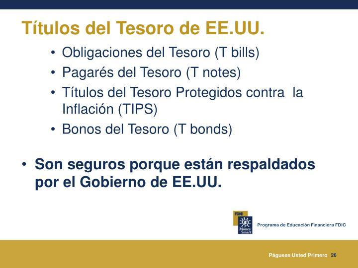 Títulos del Tesoro de EE.UU.