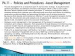 p4 11 policies and procedures asset management