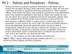 p4 3 policies and procedures policies