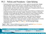 p4 5 policies and procedures cyber bullying