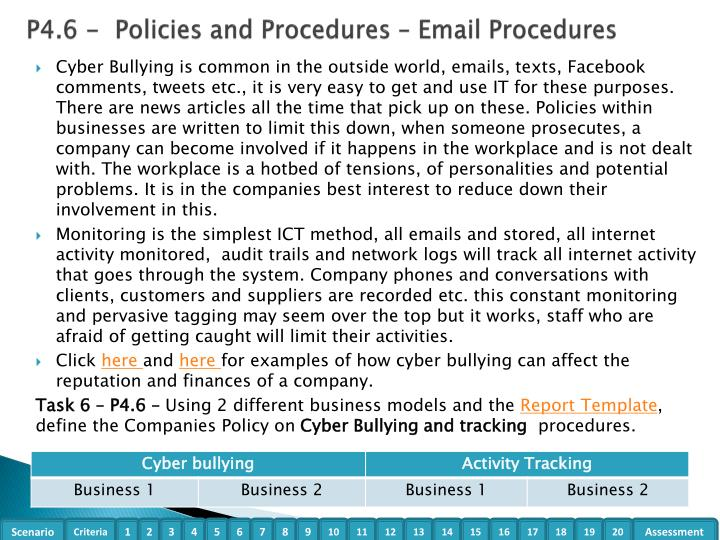 P4.6 -  Policies and Procedures – Email Procedures