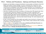p4 8 policies and procedures backup and disaster recovery
