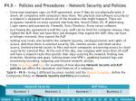 p4 9 policies and procedures network security and policies