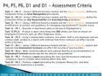p4 p5 p6 d1 and d1 assessment criteria1