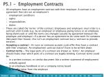 p5 1 employment contracts