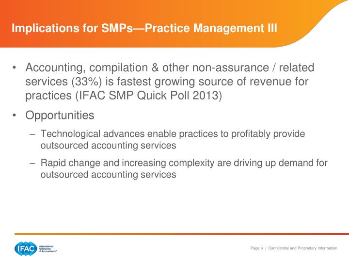 Implications for SMPs—Practice Management