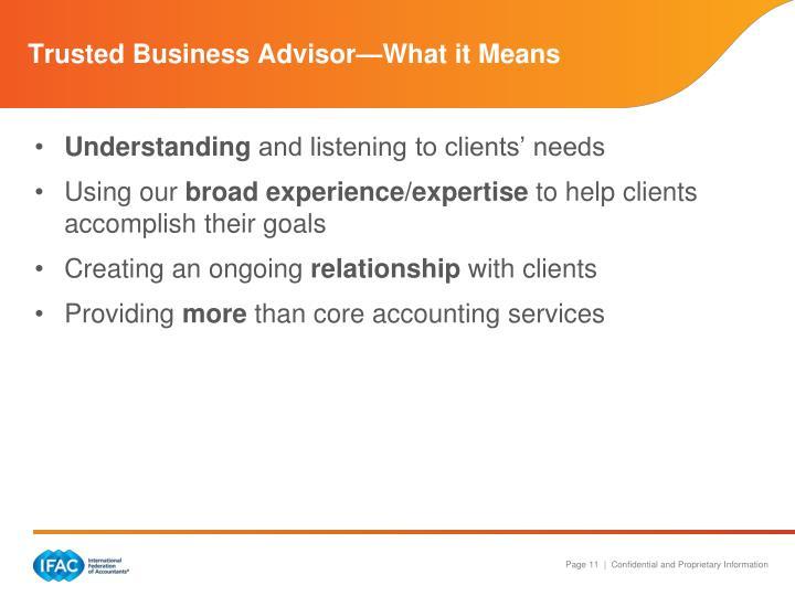Trusted Business Advisor