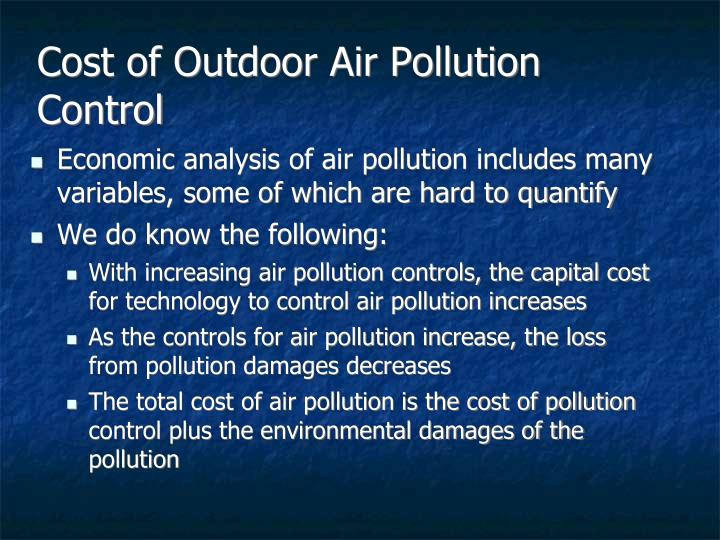 Cost of Outdoor Air Pollution Control
