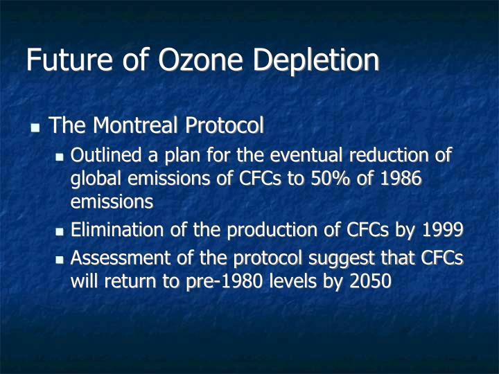 Future of Ozone Depletion