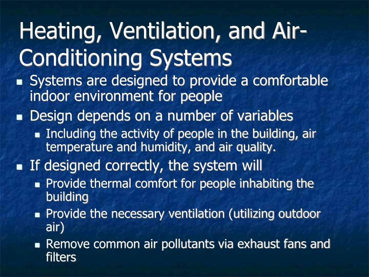 Heating, Ventilation, and Air-Conditioning Systems