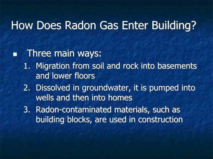 How Does Radon Gas Enter Building?
