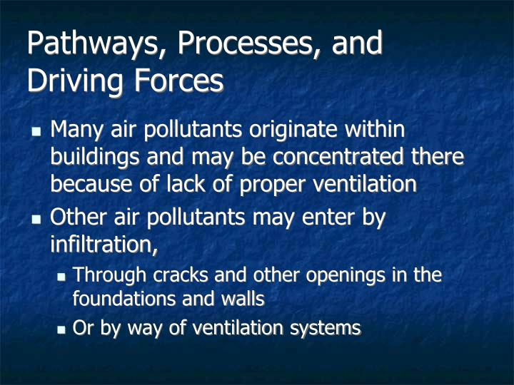 Pathways, Processes, and Driving Forces