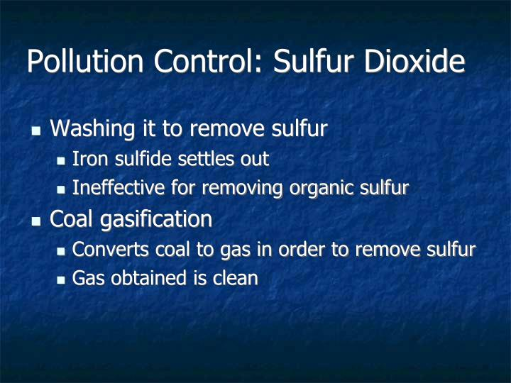 Pollution Control: Sulfur Dioxide