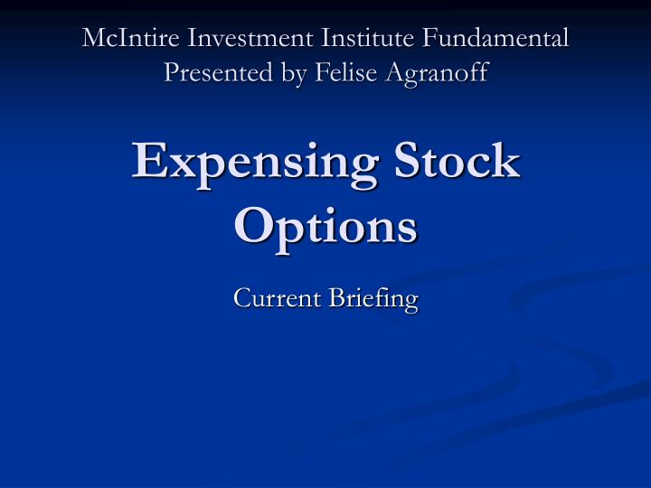 McIntire Investment Institute Fundamental