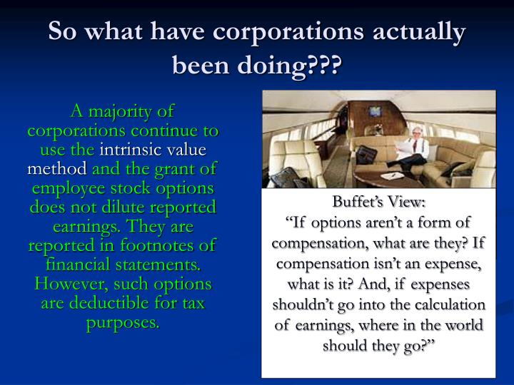 So what have corporations actually been doing???