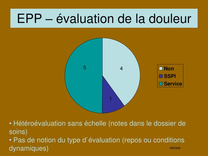 EPP – évaluation de la douleur