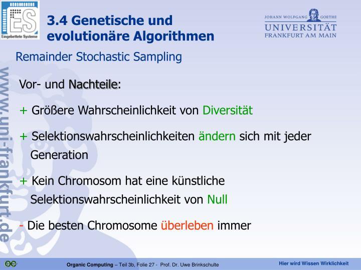 3.4 Genetische und