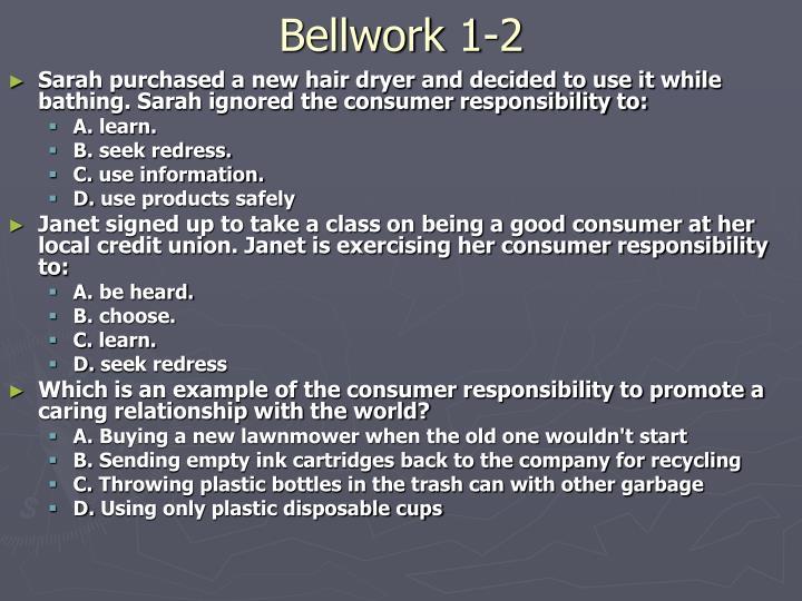 Bellwork 1-2