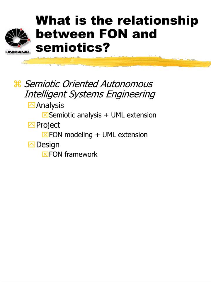 What is the relationship between FON and semiotics?
