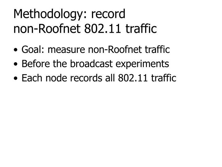 Methodology: record