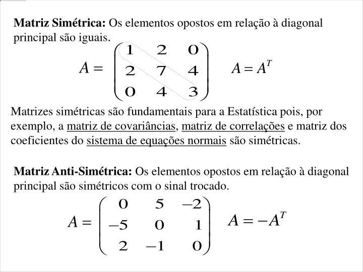Matriz Simétrica: