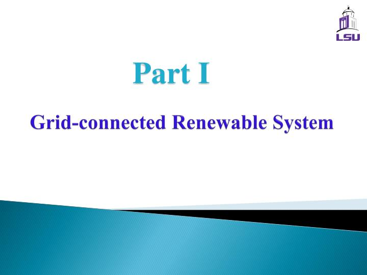 Grid connected renewable system