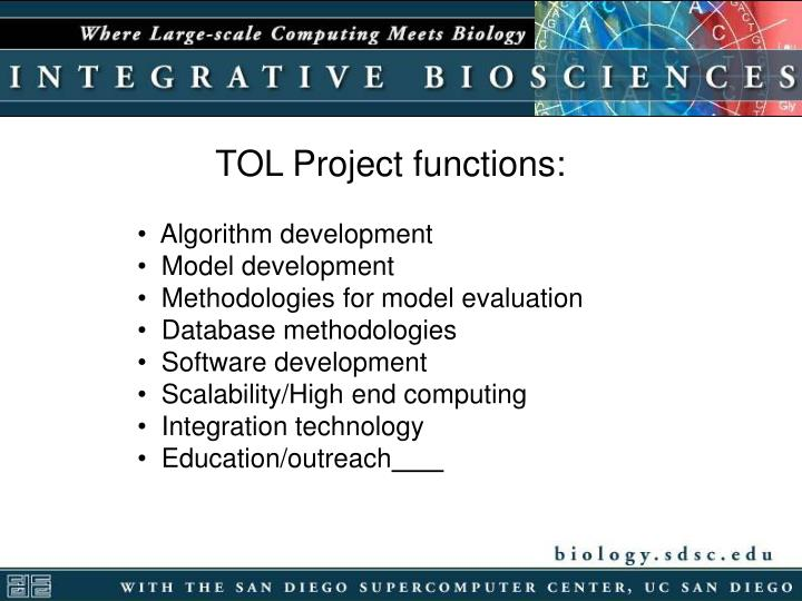 TOL Project functions: