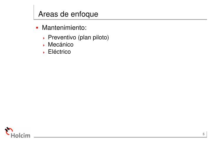 Areas de enfoque