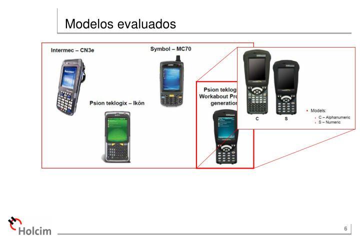 Modelos evaluados